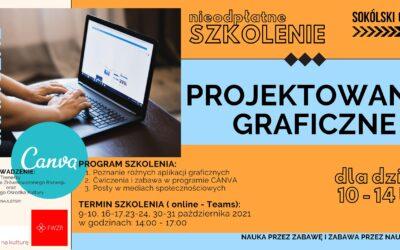 PROJEKTOWANIE GRAFICZNE nieodpłatne szkolenie online dla dzieci